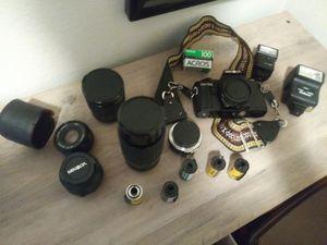 35 mm minolta camera set for Sale in San Bernardino, CA