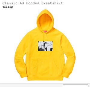 Supreme Classic Ad Hooded Sweatshirt Hoodie Small Yellow for Sale in Irvine, CA