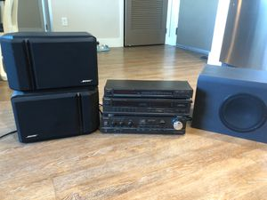 Techtonics home speaker system w/ Bose speakers for Sale in Fullerton, CA