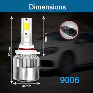 HB4 9006 Car LED Headlight Lamp Light Hi/Lo Beam 6000K 72W 7600LM White Plug for Sale in Baldwin Park, CA