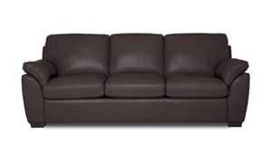 Brown Leather Queen Sleeper Couch for Sale in Cedarhurst, PA