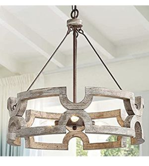 Farmhouse Wood Drum Chandeliers for Sale in Los Angeles, CA