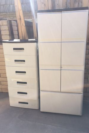 Plastic cabinet storage - plastic drawers for Sale in Chandler, AZ
