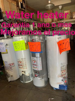 Water heater de 30 40 50 75 y 100 galones 1 año de garantía for Sale in Vernon, CA