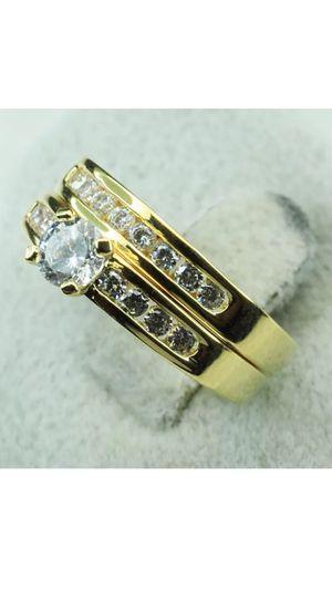 18k GF CZ Wedding Ring Set Size 5 for Sale in Nashville, TN