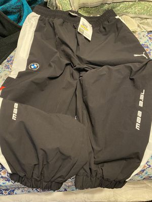 Brand new with tags men's puma BMW windbreaker pants size men's medium for Sale in San Antonio, TX