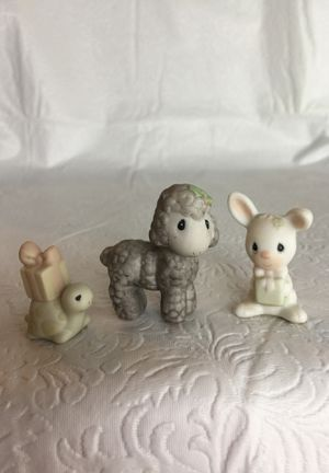 Enesco Precious Moments- Bunny, Lamb, Turtle for Sale in Kissimmee, FL