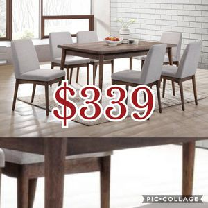 7pcs dining table set / table and chairs for Sale in Los Angeles, CA