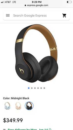 Beats by Dre studio 3 wireless Black/gold special edition for Sale in Seattle, WA