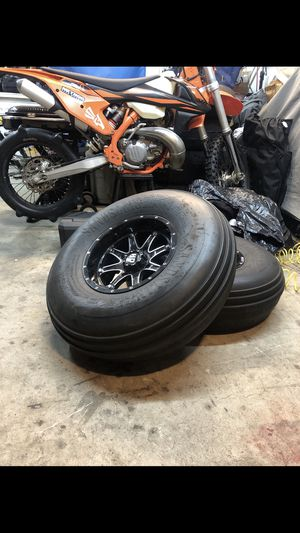 Front sand tires 4x137MM bolt pattern for Sale in Spring Valley, CA
