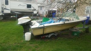 Boat with trailer and motor for Sale in North Providence, RI