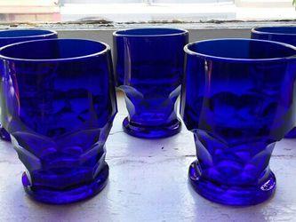 5 Vintage Cobalt Drinking Glasses for Sale in San Francisco,  CA