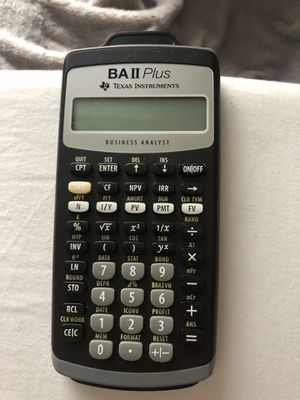 BA 2 plus Texas instrument calculator for Sale in Tampa, FL