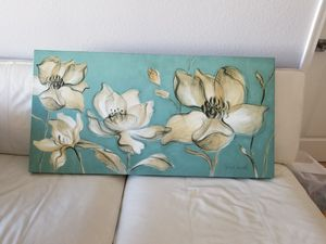 Canvas floral art for Sale in McLean, VA