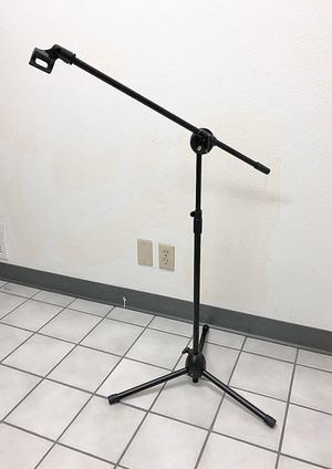 (New in box) $13 Microphone Boom Stand Mic Clip Holder Studio Arm Adjustable Foldable Tripod for Sale in Whittier, CA
