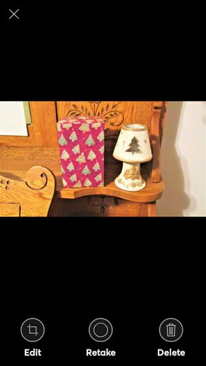 """NOEL TREE LAMP VOTIVE HOLDER WITH CANDLE--6"""" TALL for Sale in Lynchburg, VA"""