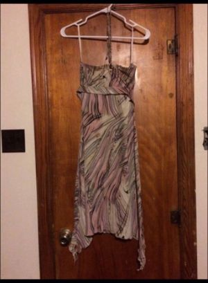 Beautifully printed strapless neck-tie dress for Sale in Milnesville, PA