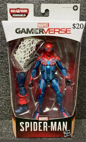 Marvel Legends Gamerverse Velocity Suit Spider man Collectible Action Figure Toy with Demogoblin Build a Figure Piece for Sale in Chicago, IL