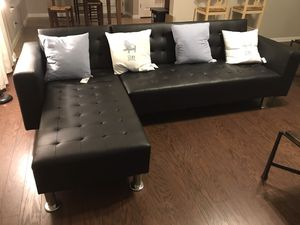 Modern black couch for Sale in Austin, TX