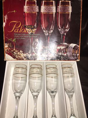 Paloma 24k gold crystal stemware for Sale in Jefferson City, MO