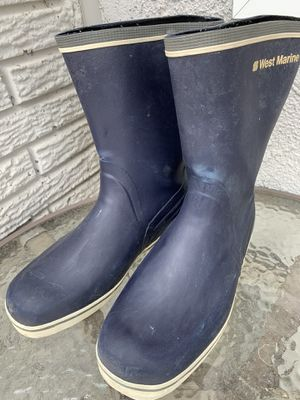 Women's 10 WATERPROOF Boots! Short West Marine Boat Fishing Shoes - NOT A DUPLICATE POST for Sale in Santa Clarita, CA