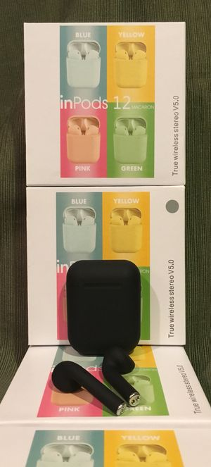 Bluetooth headset/earbuds/headphones/model i12/Compatible with any phone/allot of colors in stock/new in box for Sale in Perris, CA
