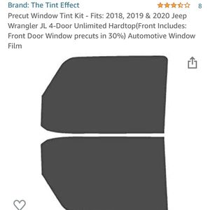 Front Window Tint For Wrangler JL for Sale in East Providence, RI