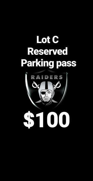 Raiders parking pass for Sale in Santa Fe Springs, CA