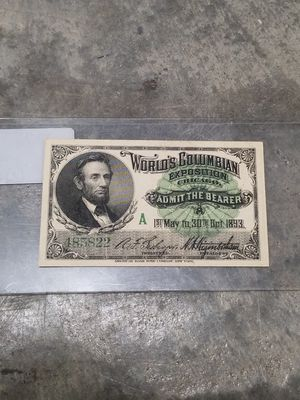 1893 Admission Ticket for Sale in Oakland Park, FL