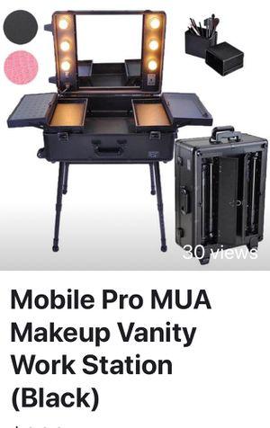 Mobile Pro MUA Makeup Vanity on Wheels - Like New! for Sale in Davenport, IA
