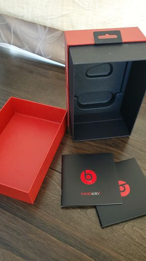 Beats Solo 2 Empty Box and Manuals Only for Sale in Chula Vista, CA