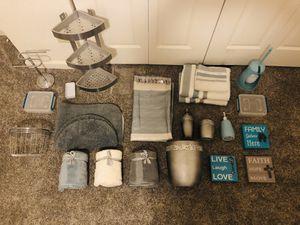 Teal, grey & cream bathroom decor for Sale in Alamosa, CO