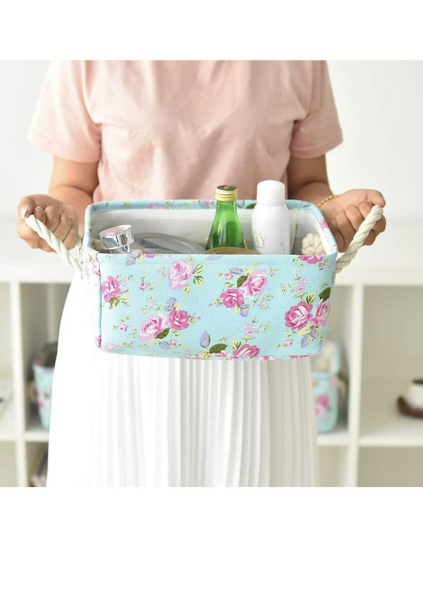 Set of 2 storage baskets bins containers