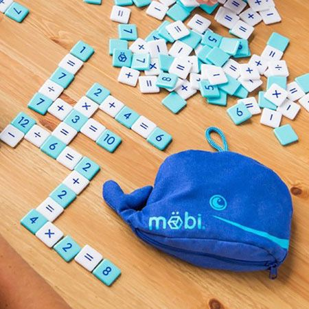 MÖBI Kids-The Numerical Tile Game for Kids in a Whale Pouch