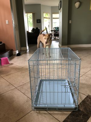 Small dog cage, baby blue for Sale in FL, US