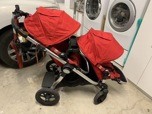 Baby Jogger City Select Double Stroller Bench Seat, Snack Tray and Graco Car Seat Adaptors for Sale in Irvine, CA