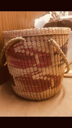 Hand made woven laundry/ storage basket for Sale in San Diego, CA