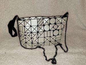 White Women Handbags Geometric Luminous tote Bag PU Leather Shard Lattice Holographic Purse Ladies Shoulder Bag for Sale in Miami Shores, FL