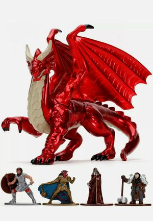 Jada Toys Dungeons And Dragons Diecast Figurines & Young Red Dragon for Sale in Costa Mesa, CA