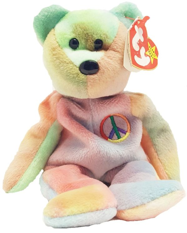 2cab0d502a8 TY BEANIE BABY PEACE Bear 1996 Rare colors with errors -  30 (Pace)