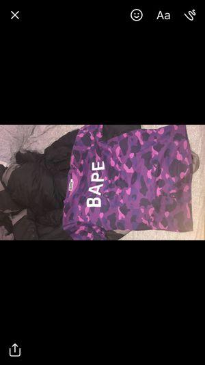 purple camo bape shirt size XL for Sale in Miami, FL