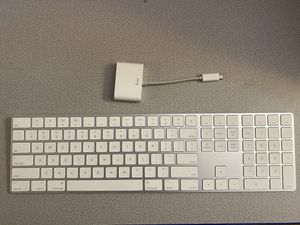 Apple Keyboard and USB-C adapter for MacBook Pro for Sale in Tampa, FL