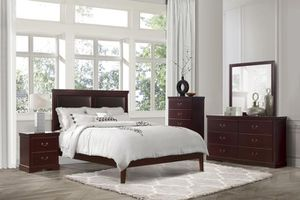 [SPECIAL] Seafdaabright Cherry Panel Bedroom Set for Sale in Baltimore, MD