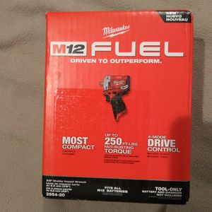 """Milwaukee M12 FUEL 3/8"""" Stubby Impact for Sale in Portland, OR"""