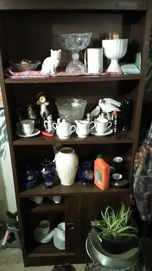 cabinet full of glass ware antique for Sale in Knoxville, TN