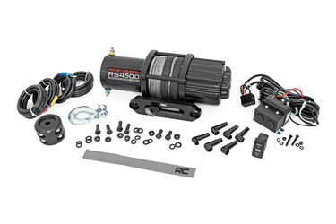 Rough Country 4500lb UTV ATV Electric Winch with Synthetic Rope - 4500lb Recovery Winch for Sale in Fullerton,  CA