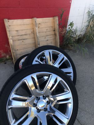 24 inch rims and tires for Sale in Romulus, MI