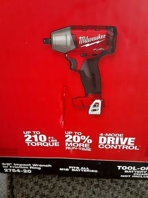 MILWAUKEE FUEL M18 3/8 IMPACT WRENCH W/FRICTION RING CAT 2754 TOOL ONLY for Sale in Chula Vista, CA