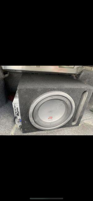 Alpine Subwoofer + 1500 Watt Hifonic Amp for Sale in Gardena, CA
