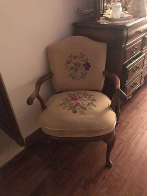 Vintage needlepoint chair for Sale in Davie, FL